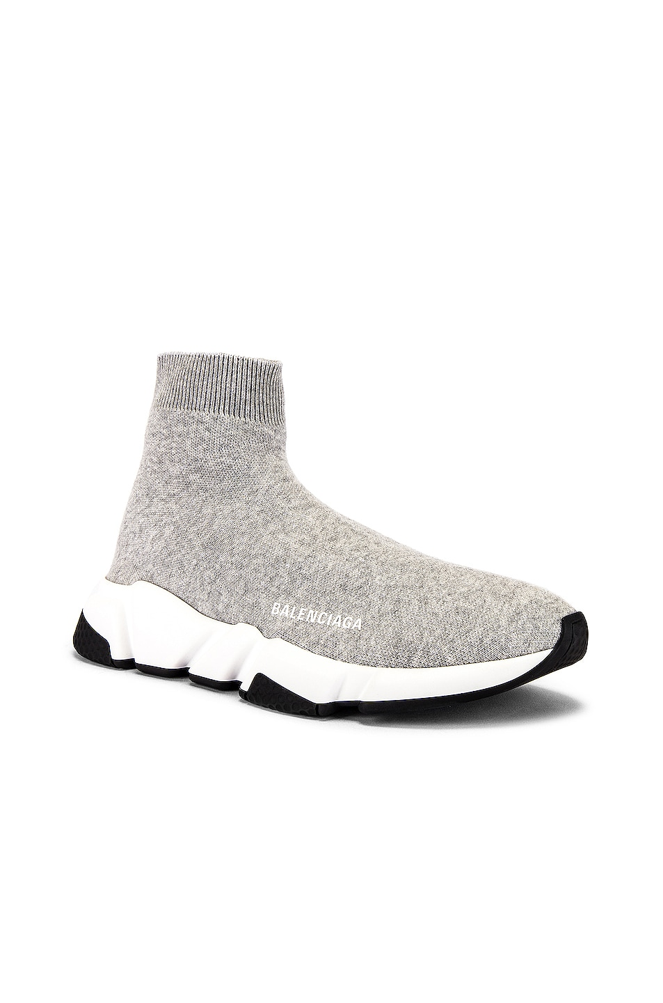 Image 1 of Balenciaga Speed Light Sneaker in Grey & White & Black