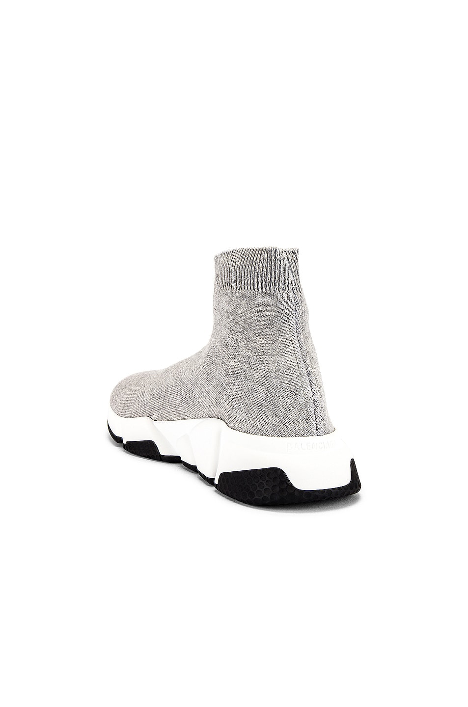 Image 3 of Balenciaga Speed Light Sneaker in Grey & White & Black