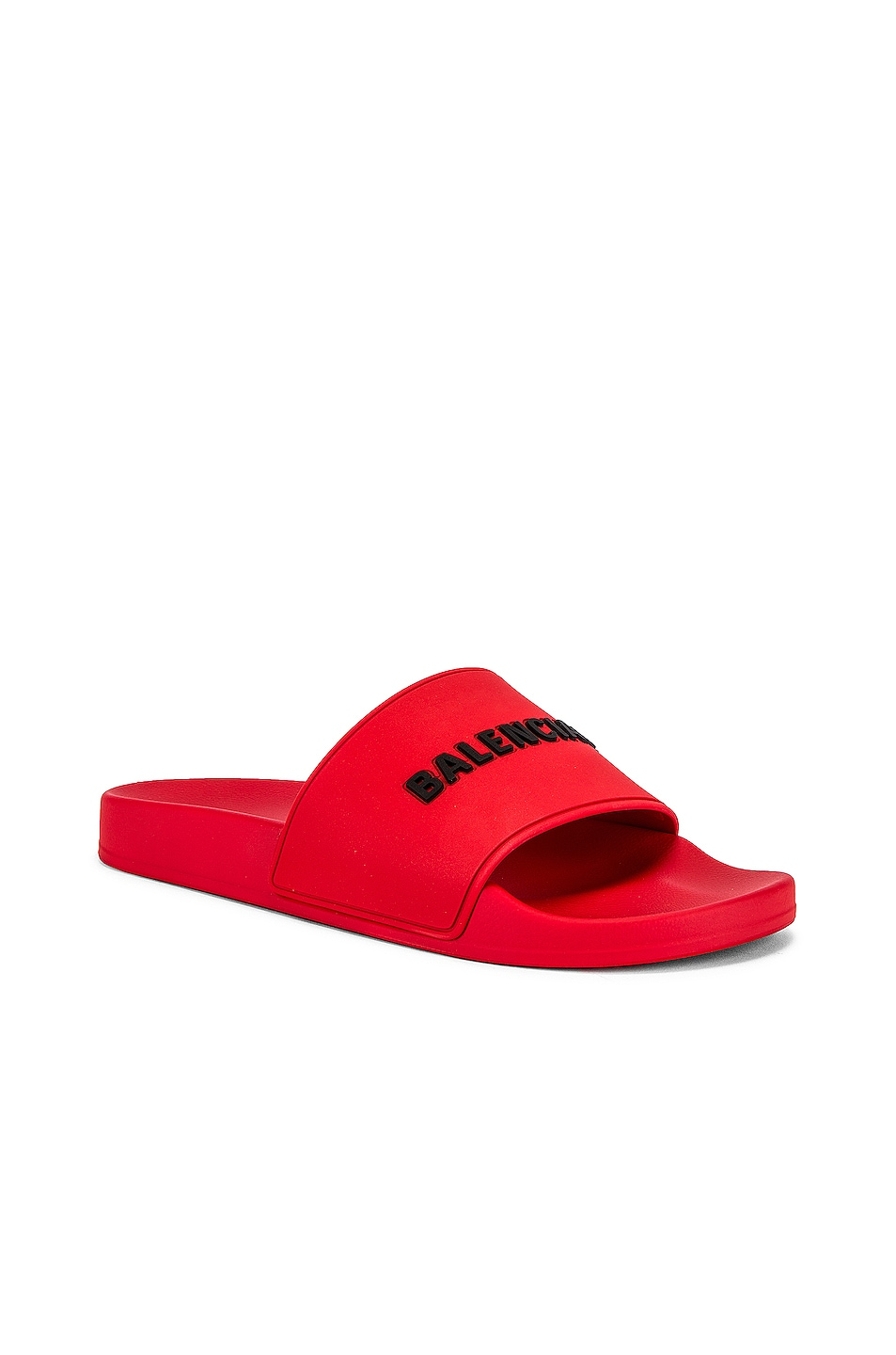 Image 1 of Balenciaga Pool Slide in Red & Black