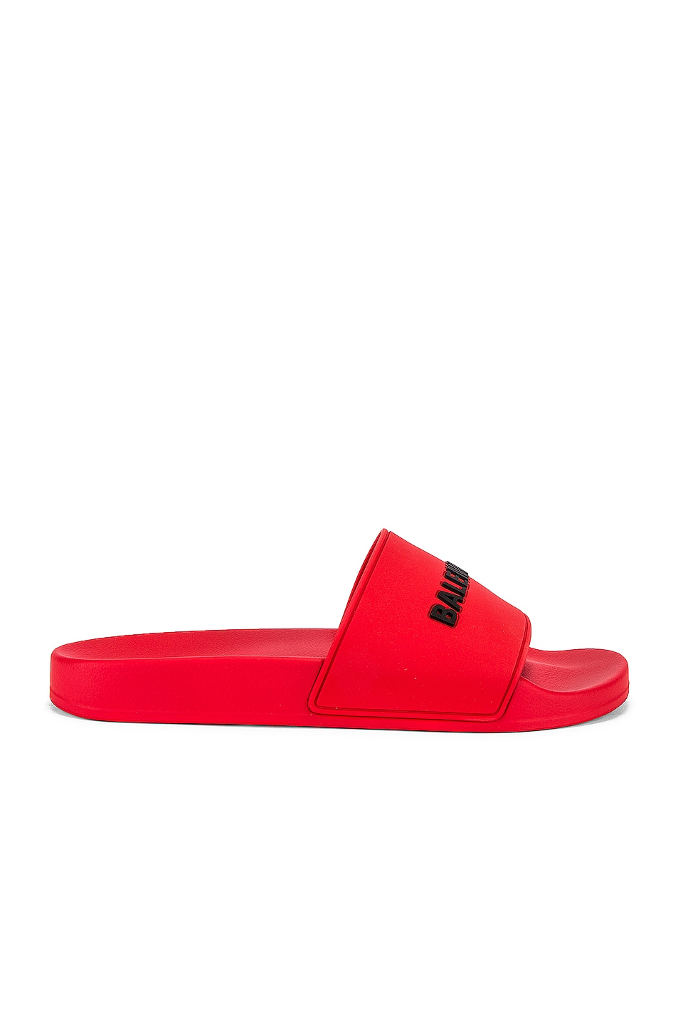 Image 2 of Balenciaga Pool Slide in Red & Black