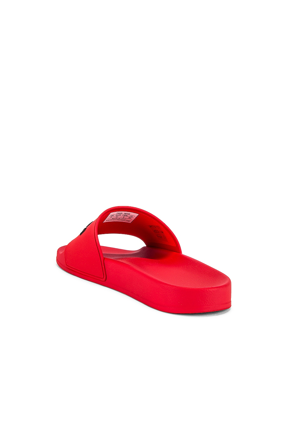 Image 3 of Balenciaga Pool Slide in Red & Black