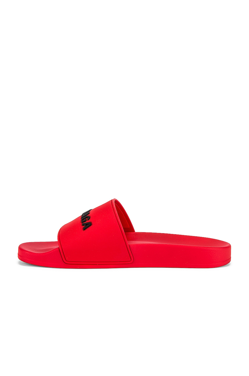 Image 5 of Balenciaga Pool Slide in Red & Black