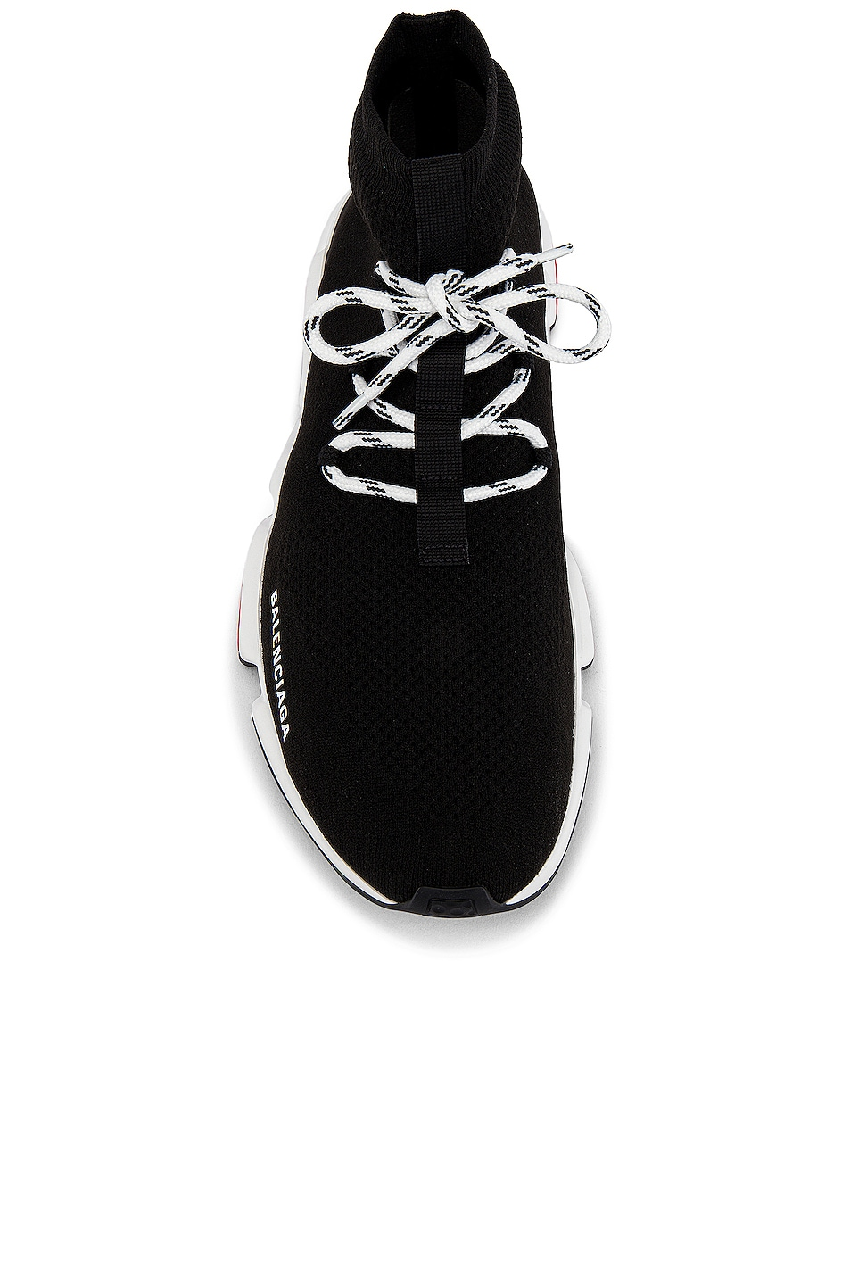 Image 4 of Balenciaga Speed Light Sneaker Lace Up in Black & White & Red & Black
