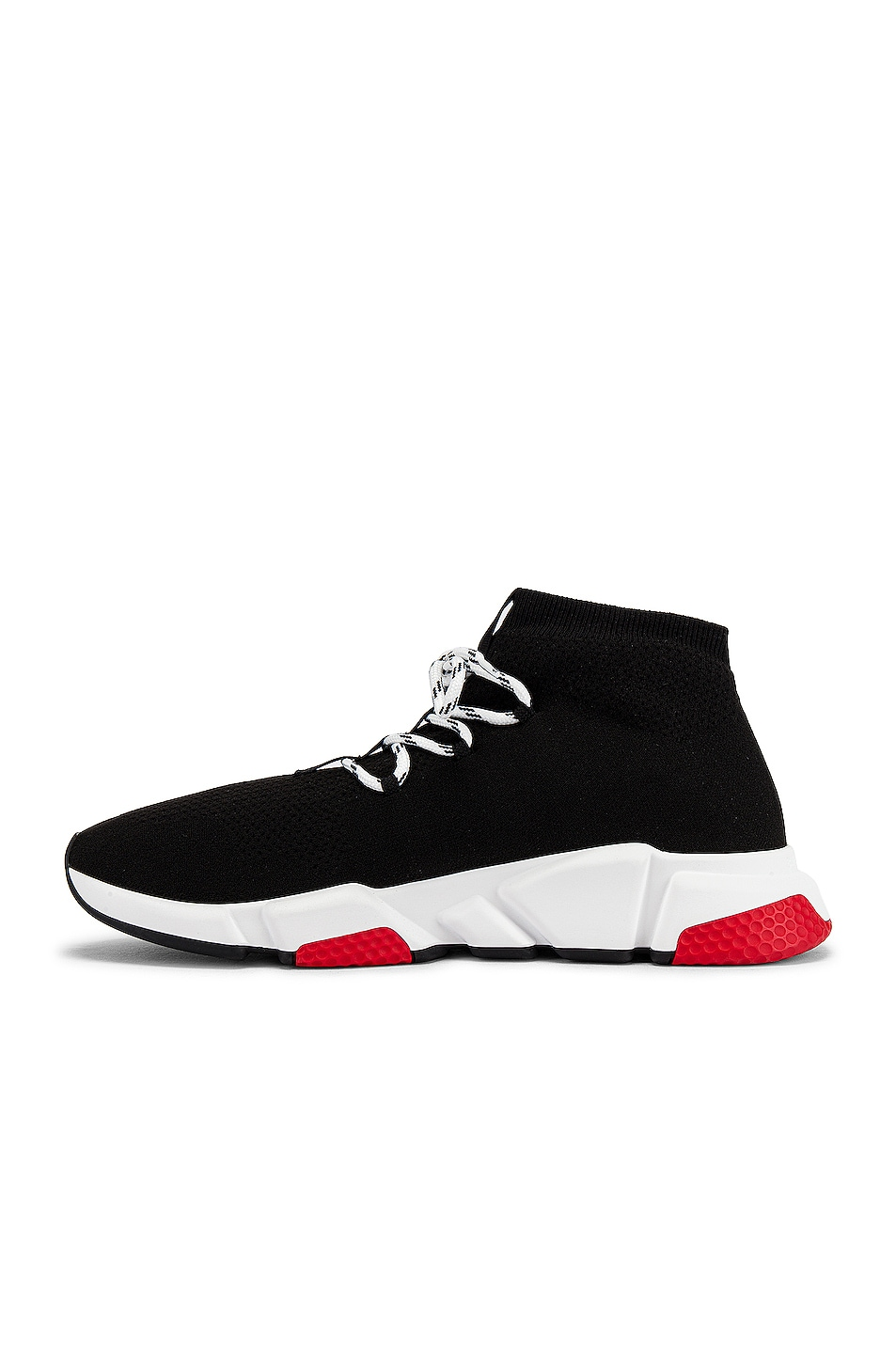 Image 5 of Balenciaga Speed Light Sneaker Lace Up in Black & White & Red & Black