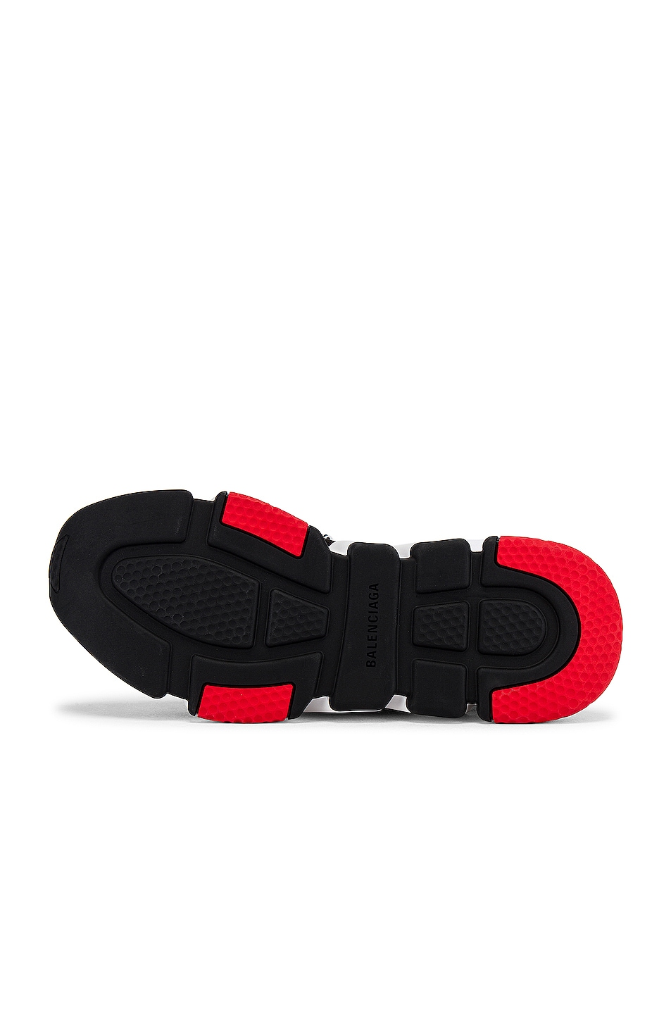 Image 6 of Balenciaga Speed Light Sneaker Lace Up in Black & White & Red & Black