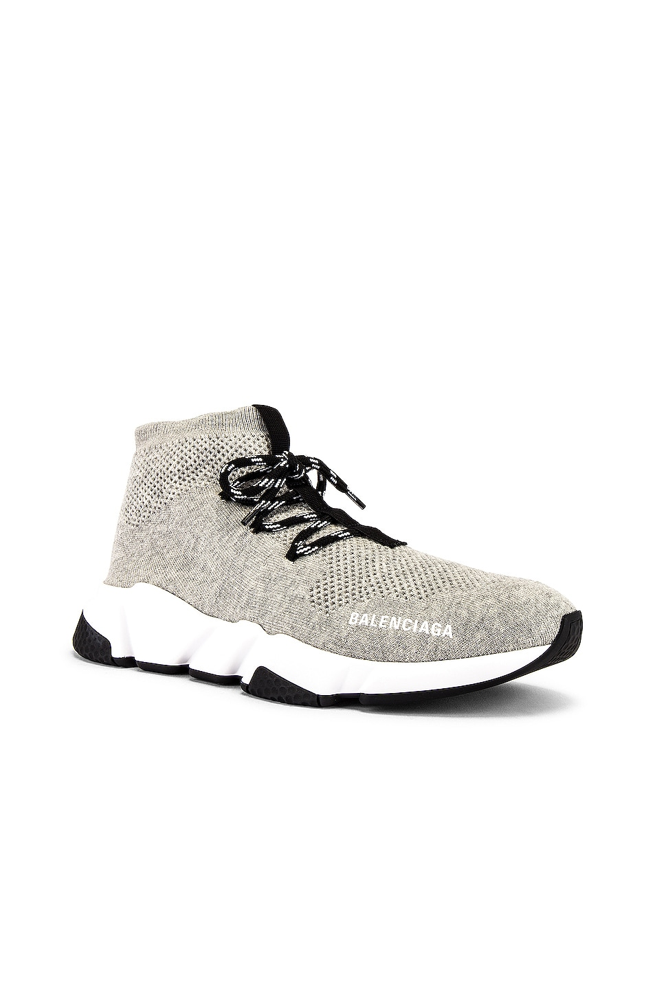 Image 1 of Balenciaga Speed Light Sneaker Lace Up in Grey & White & Black
