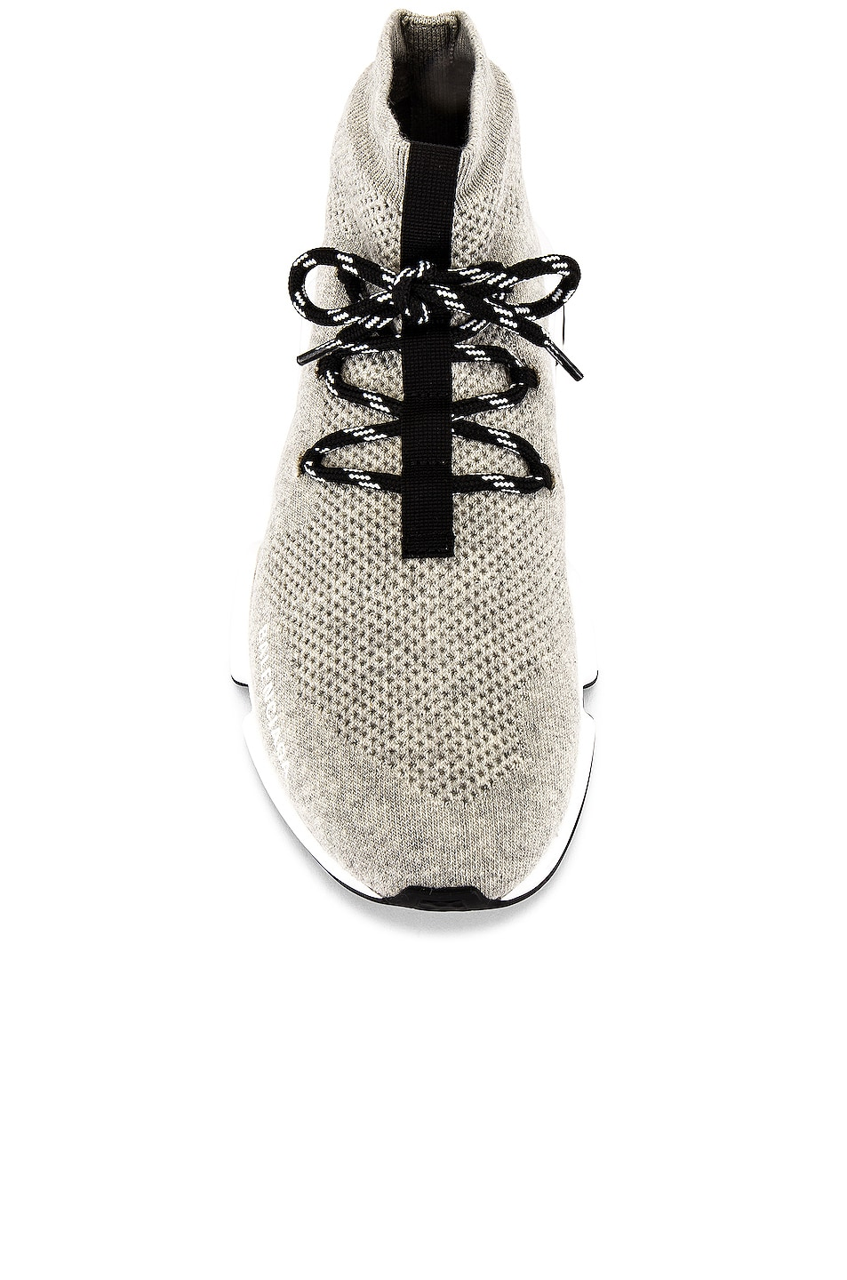 Image 4 of Balenciaga Speed Light Sneaker Lace Up in Grey & White & Black