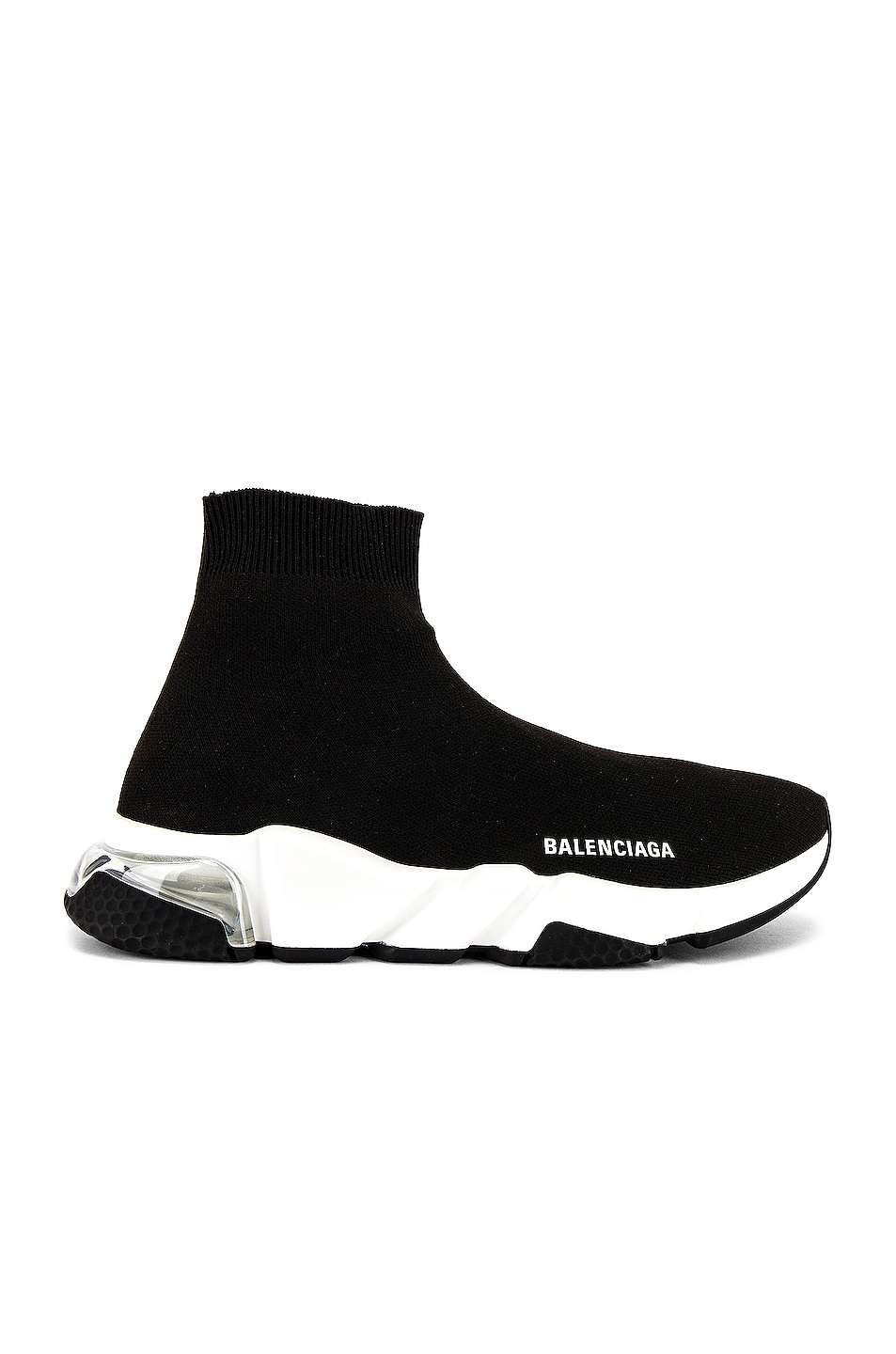 Image 1 of Balenciaga Speed Light Sneaker in Black & White & Clear