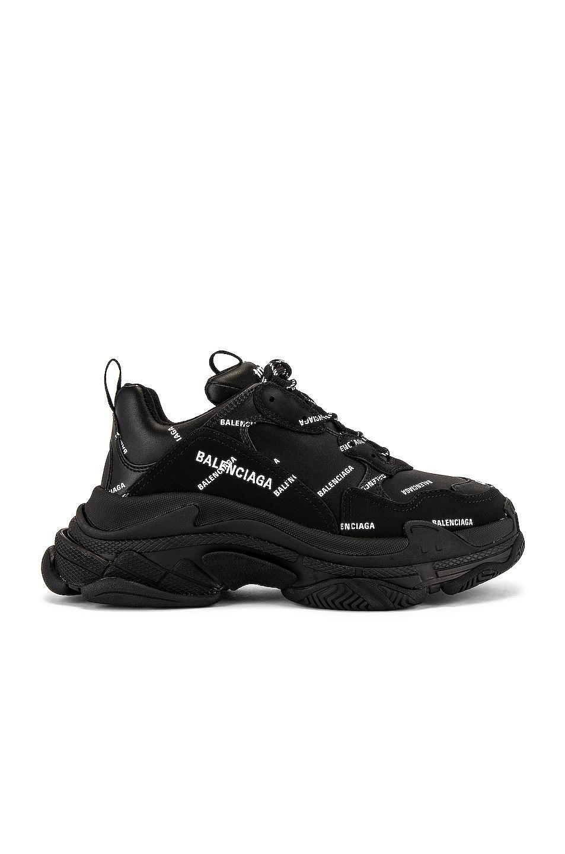 Image 1 of Balenciaga Triple S Sneaker in Black & White