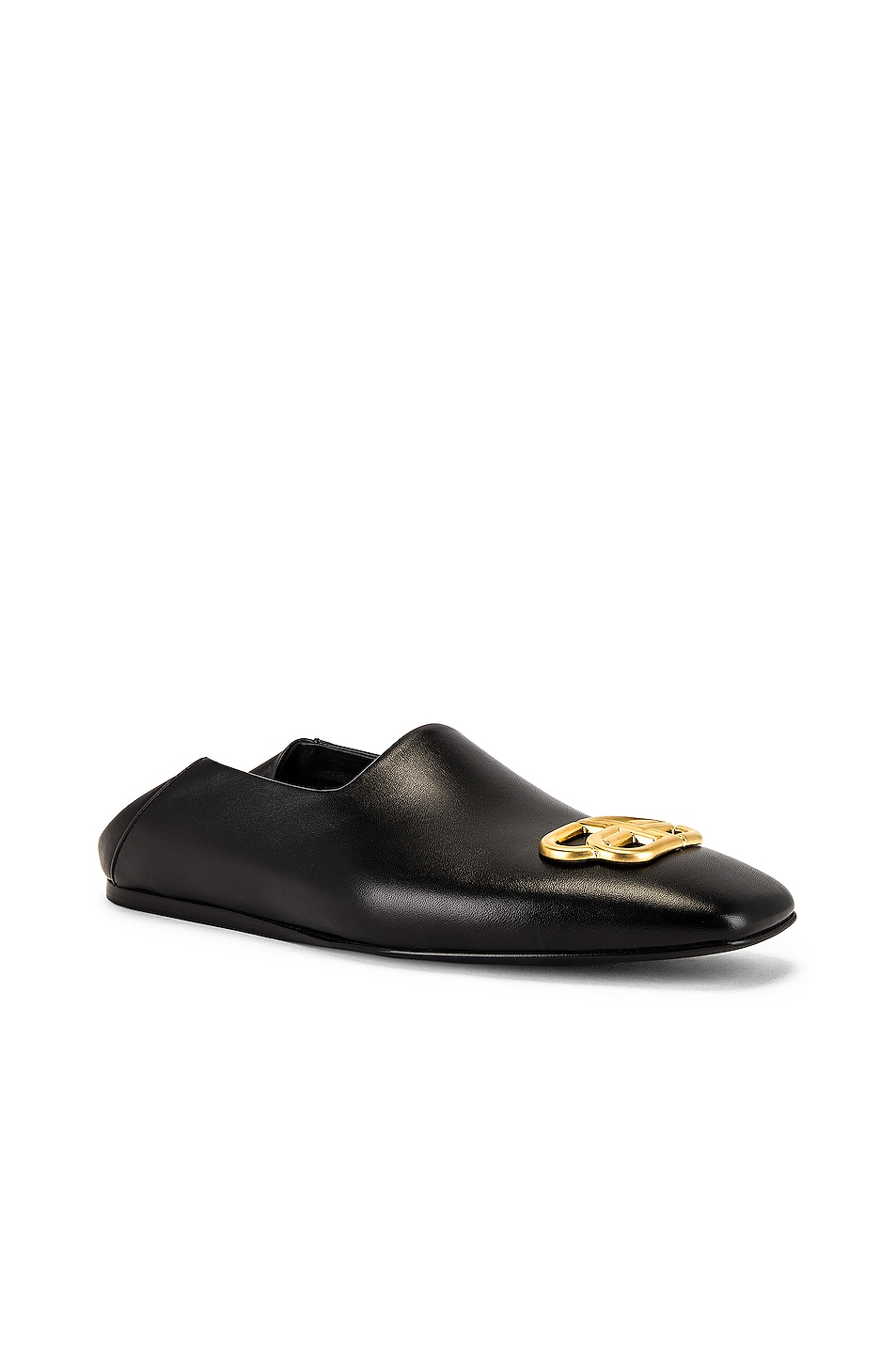 Image 1 of Balenciaga Cosy Bb Loafer F005 in Black & Gold