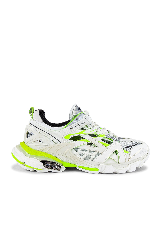 Image 1 of Balenciaga Track.2 Open Sneaker in White & Fluo Yellow