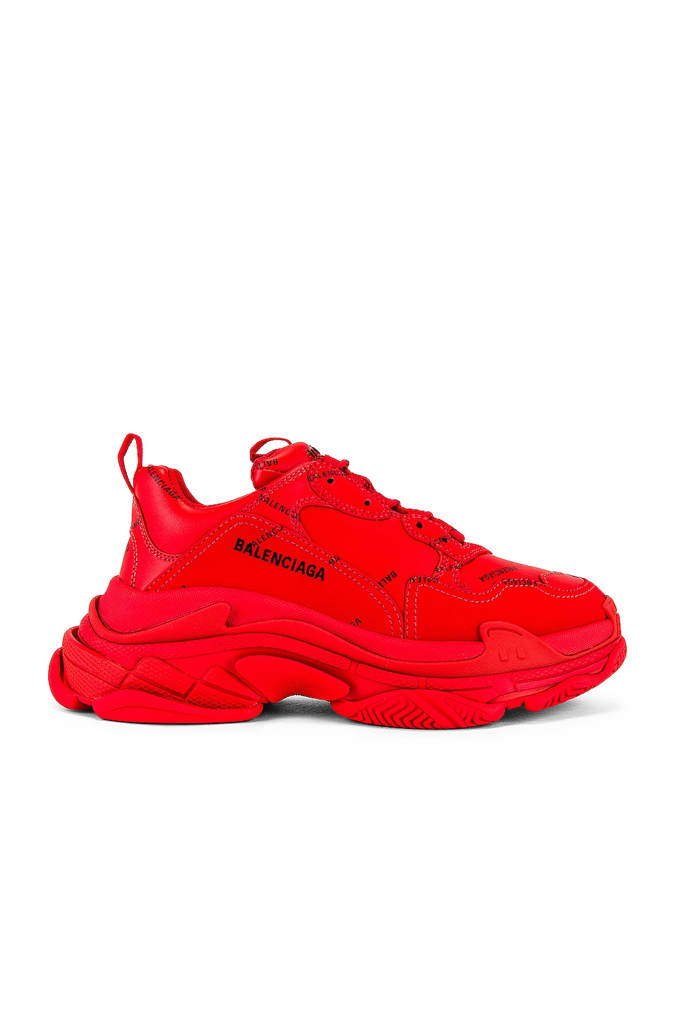 Image 1 of Balenciaga Triple S Sneaker in Red & Black