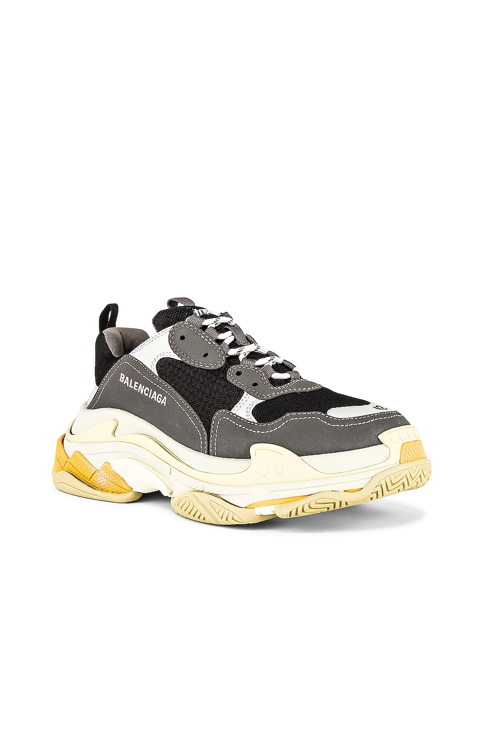 Image 1 of Balenciaga Triple S Sneaker in Grey & Yellow