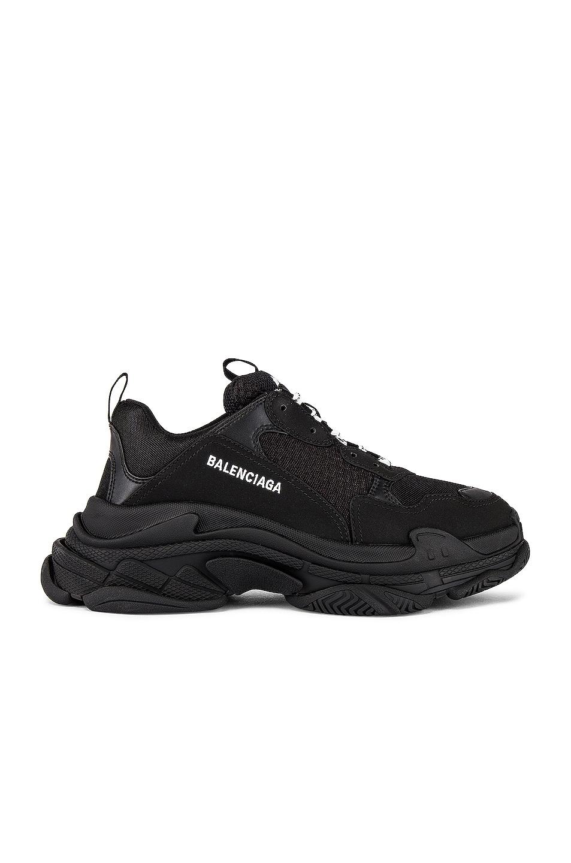 Image 1 of Balenciaga Triple S Sneaker in Black