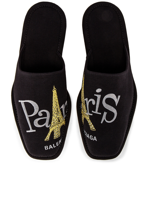 Image 1 of Balenciaga Cosy Eiffel Tower Slipper in Black