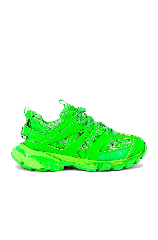 Image 1 of Balenciaga Track Sneaker in Fluo Green