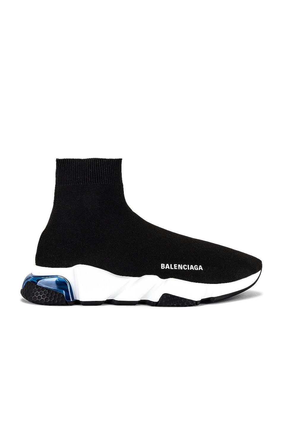 Image 1 of Balenciaga Speed Lt Sneaker in Black & White & Blue & Black