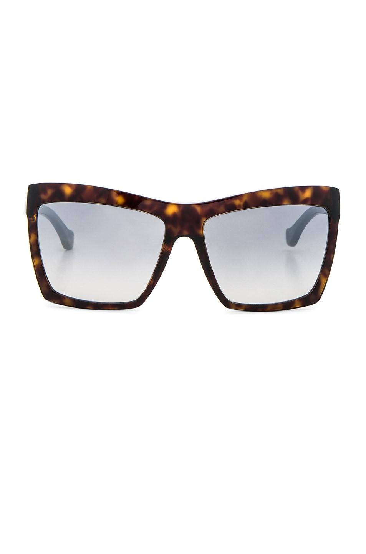 Image 1 of Balenciaga Shield Sunglasses in Dark Havana