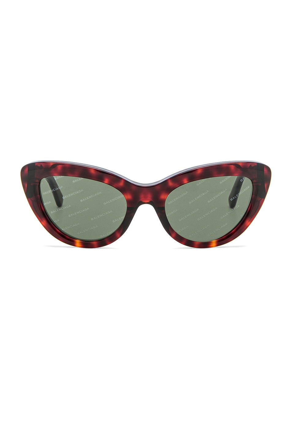 Image 1 of Balenciaga Cat Eye Sunglasses in Red Havana