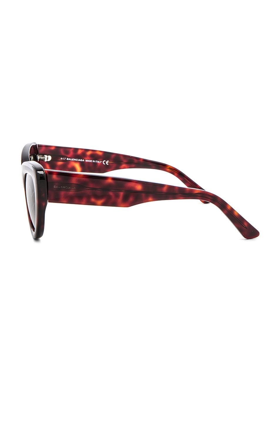 Image 3 of Balenciaga Cat Eye Sunglasses in Red Havana