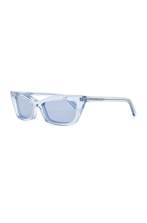 Image 2 of Balenciaga Rectangular Cat Eye Sunglasses in Ice Blue