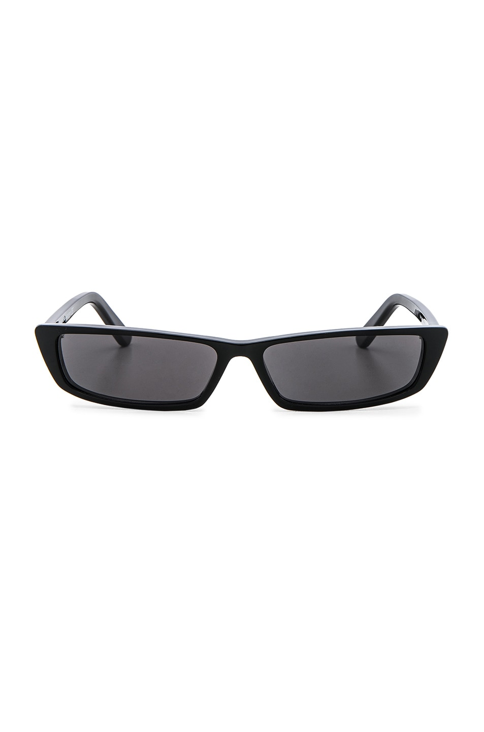 Image 1 of Balenciaga Narrow Cat Eye Sunglasses in Shiny Black & Smoke Lenses