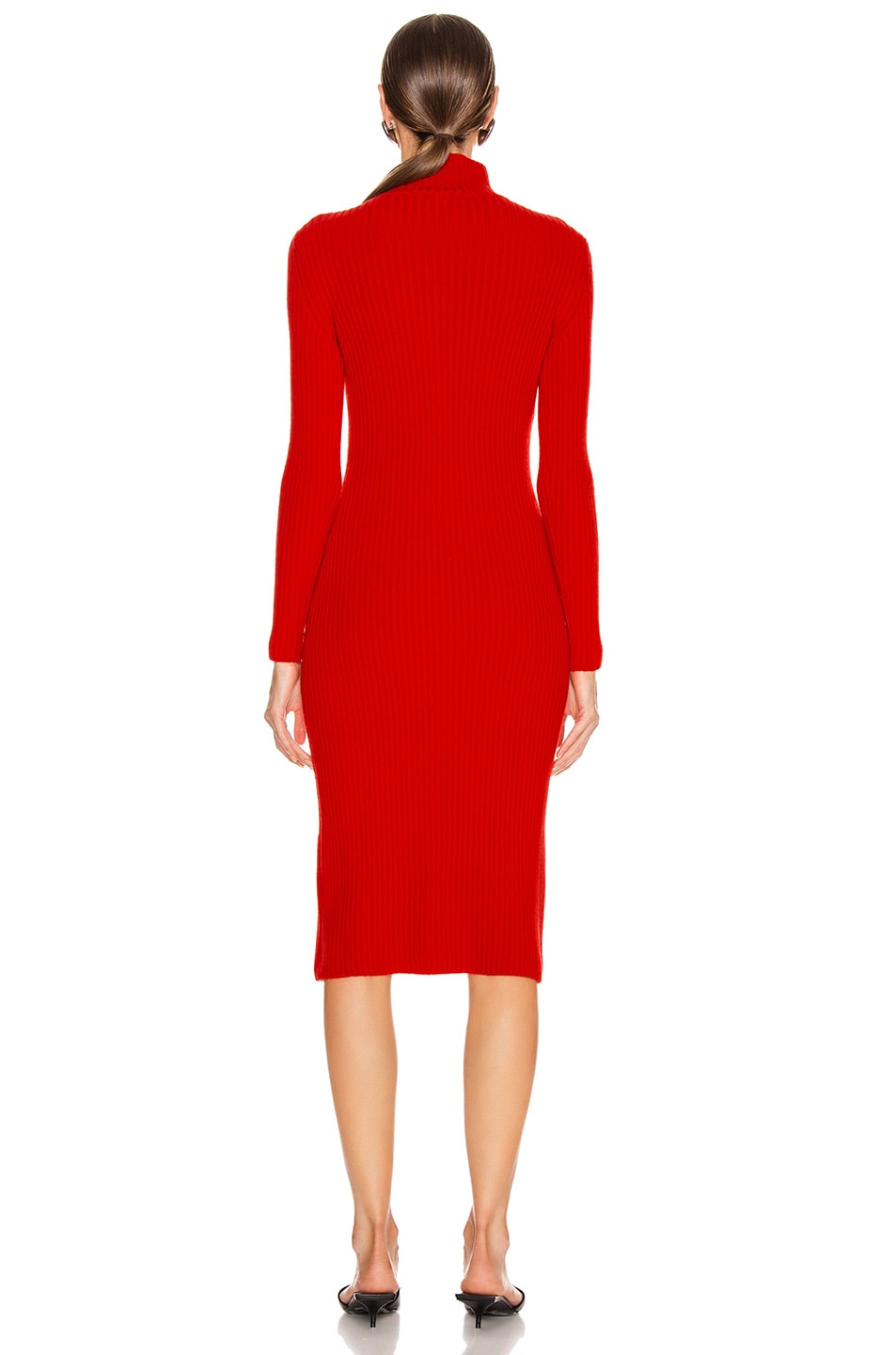 Image 3 of Balenciaga Long Sleeve Turtleneck Dress in Red