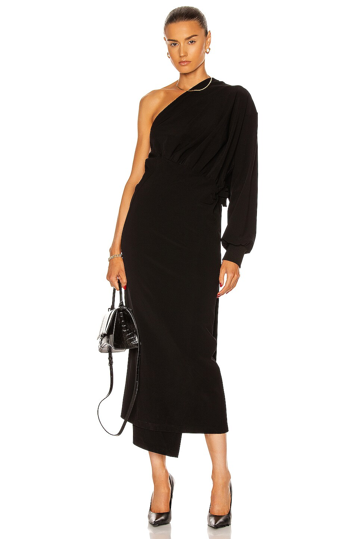 Image 1 of Balenciaga Body Wrap Dress in Black