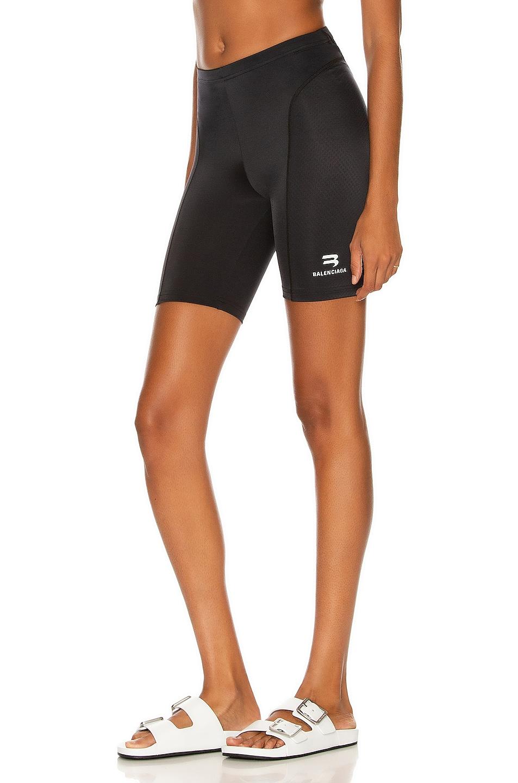 Image 1 of Balenciaga Cycling Short in Black & White