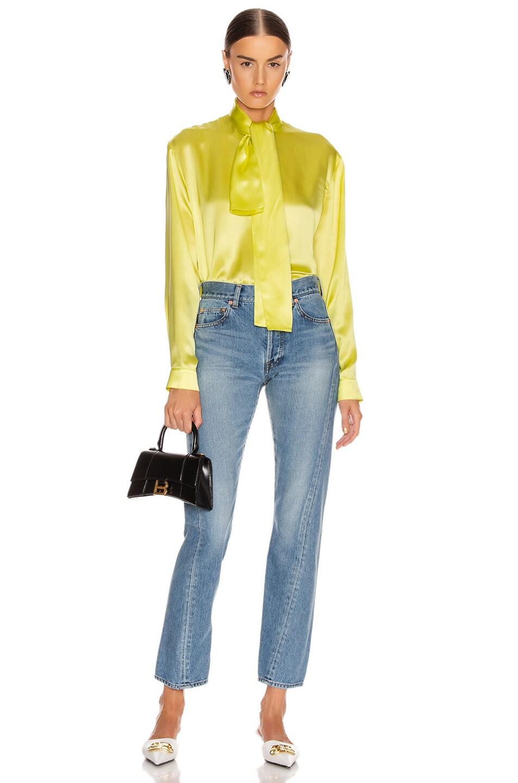 Image 4 of Balenciaga Twisted Jean in Light Indigo