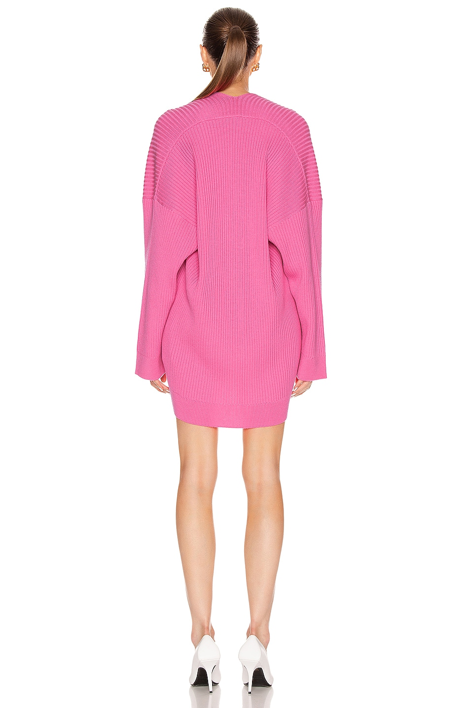 Image 4 of Balenciaga Long Sleeve Slit Sweater in Ultra Pink