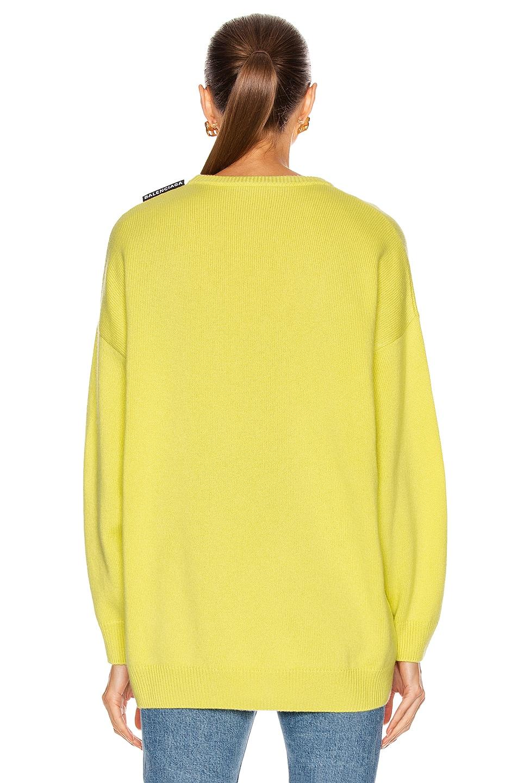 Image 3 of Balenciaga Long Sleeve Crewneck Sweater in Lime