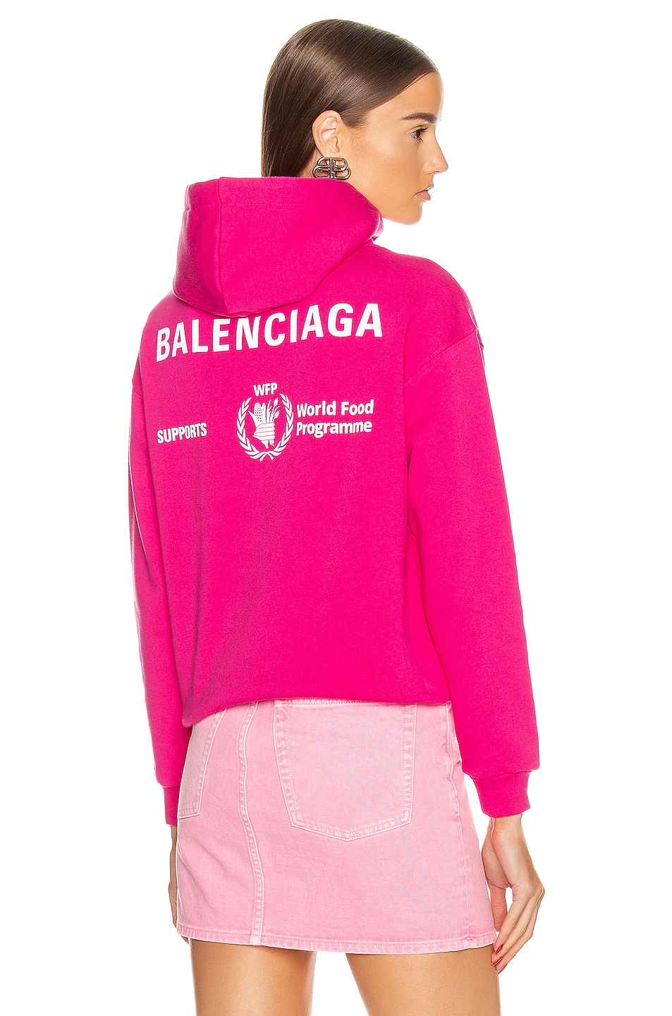 Image 1 of Balenciaga Shrunk Hoodie in Pink