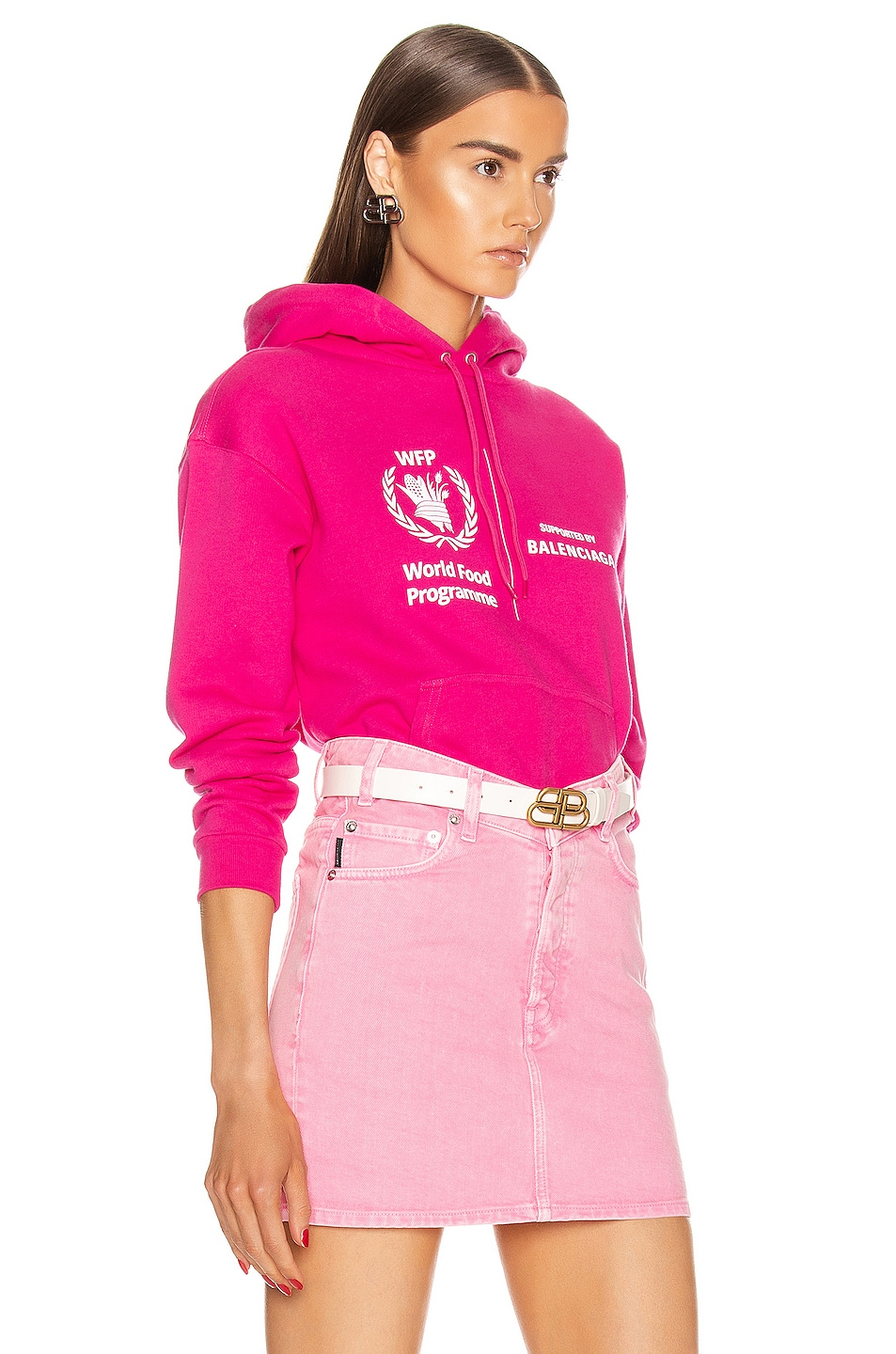 Image 3 of Balenciaga Shrunk Hoodie in Pink