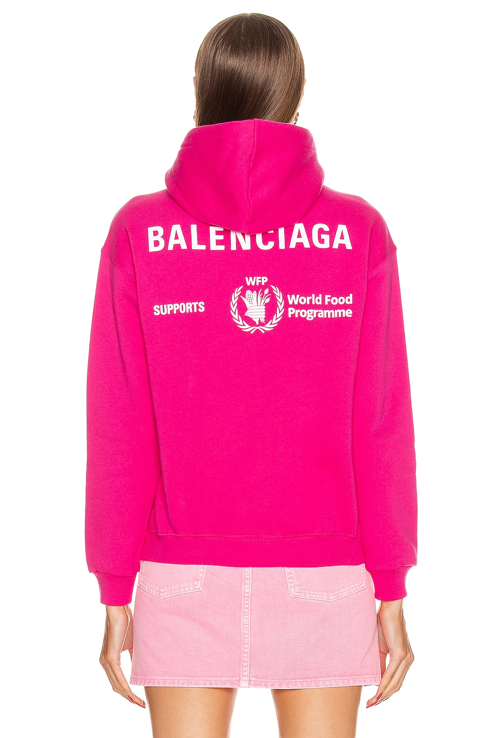 Image 4 of Balenciaga Shrunk Hoodie in Pink