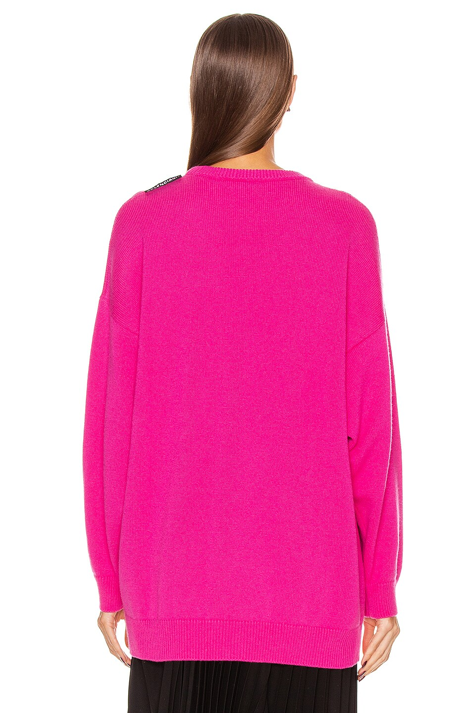 Image 3 of Balenciaga Long Sleeve Crew Neck Sweater in Shocking Pink