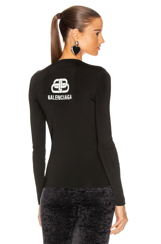 Image 1 of Balenciaga Long Sleeve Cardigan in Black & White