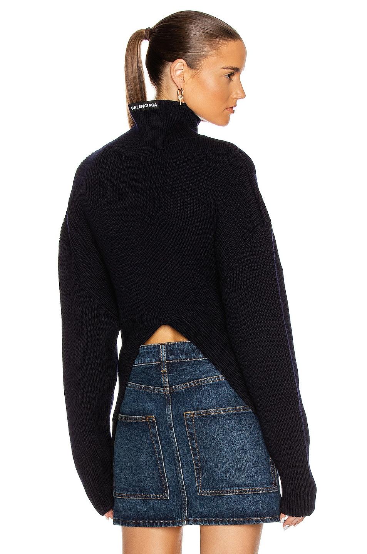 Image 1 of Balenciaga Long Sleeve Highneck Sweater in Navy