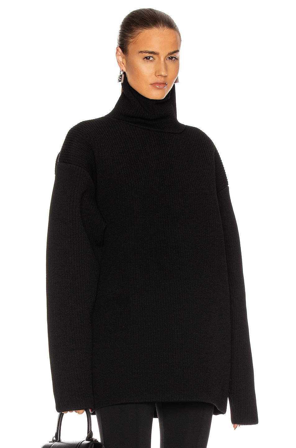 Image 1 of Balenciaga High Neck Sweater in Black