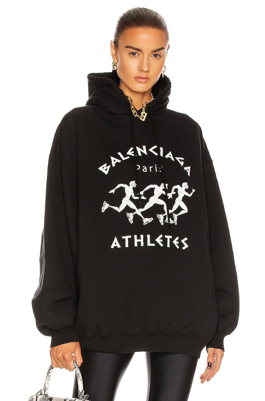 Image 1 of Balenciaga Bomber Hoodie in Black & White