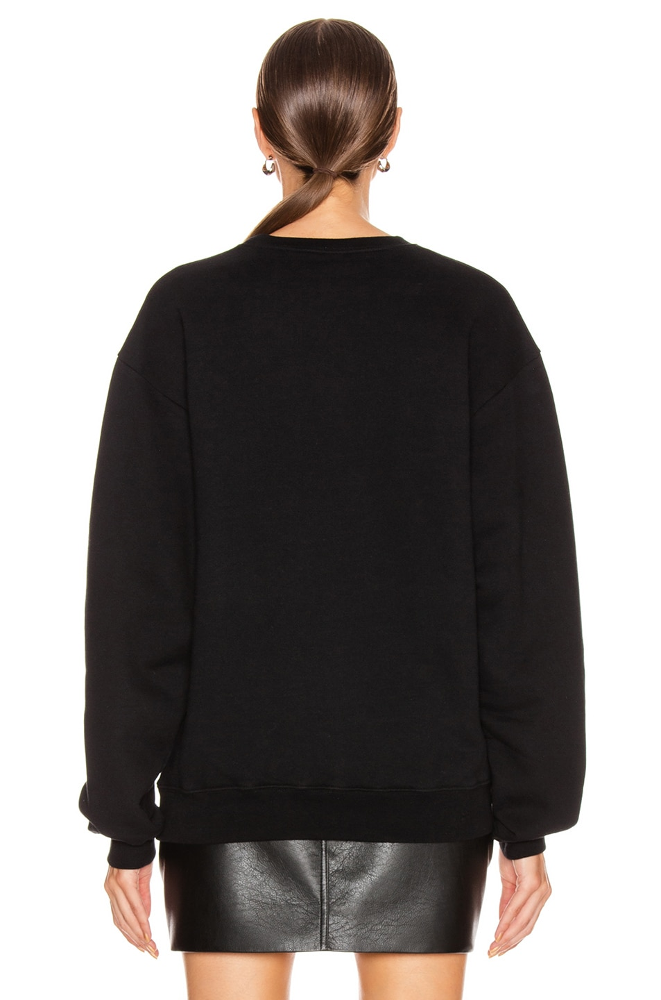 Image 3 of Balenciaga Paris Flag Crew Neck Sweatshirt in Black