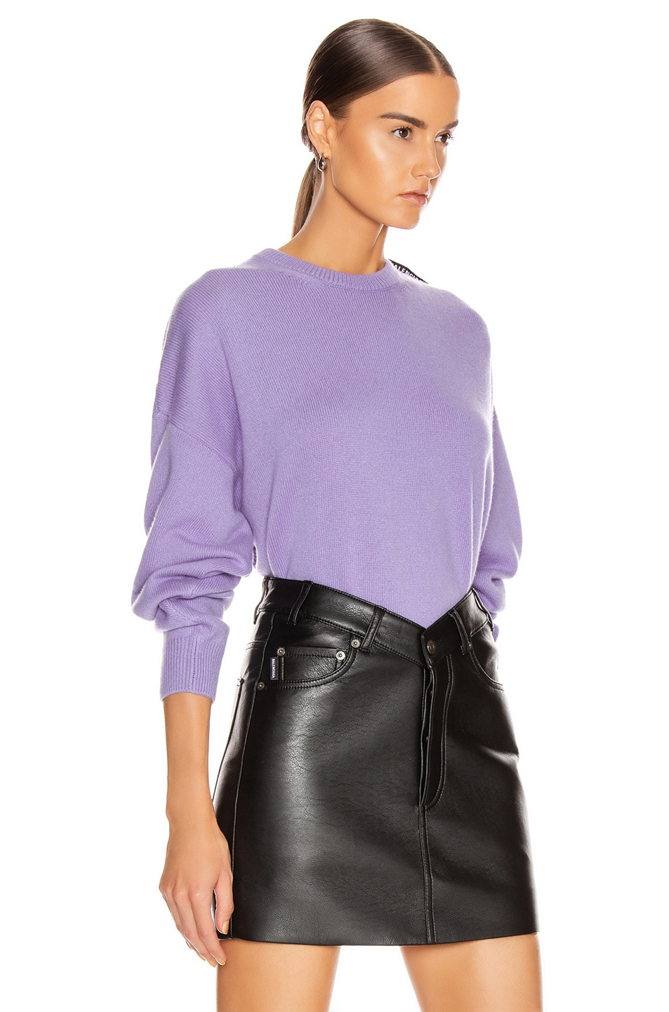 Image 2 of Balenciaga Long Sleeve Crew Neck Sweater in Lilac