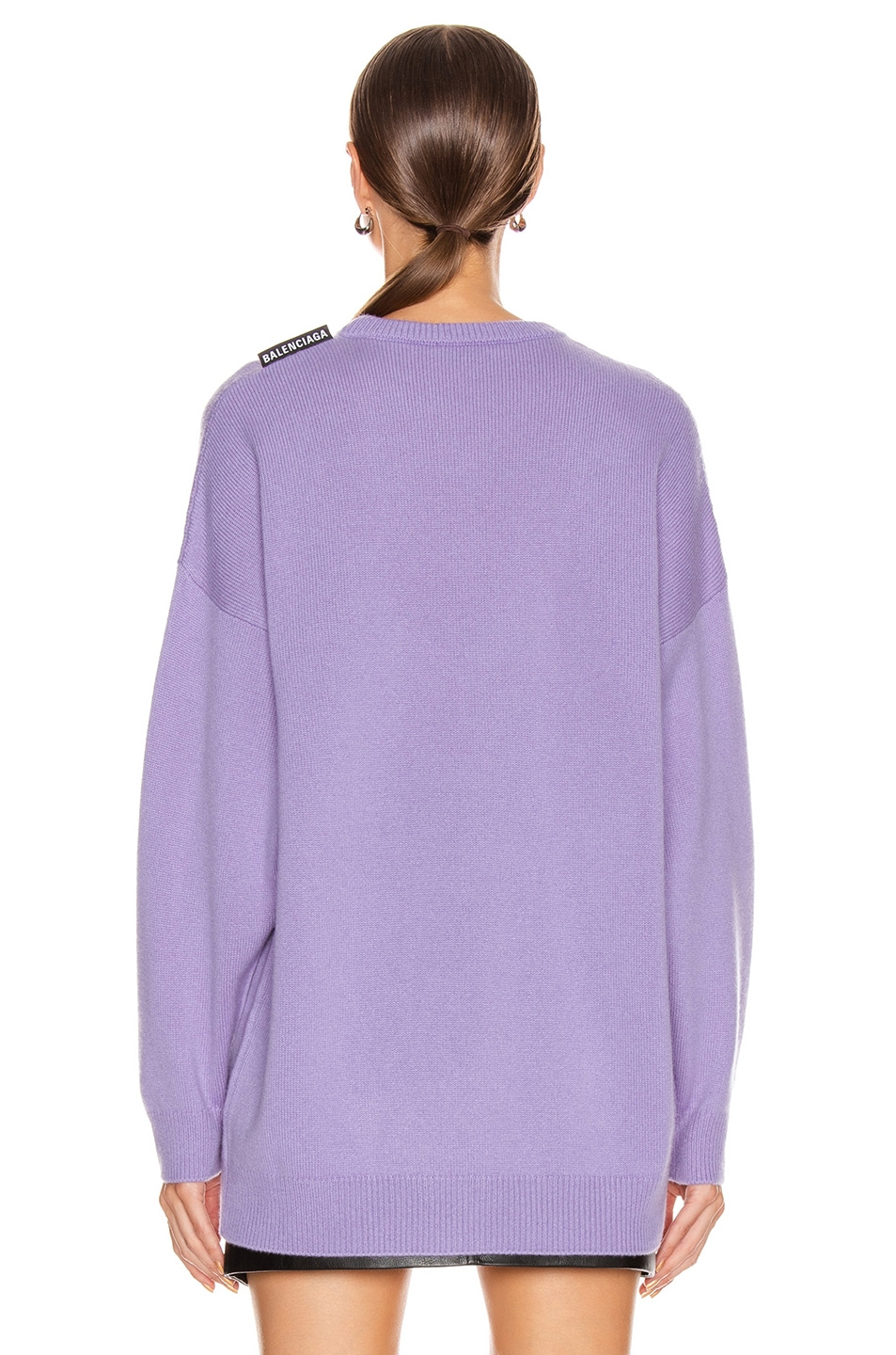 Image 3 of Balenciaga Long Sleeve Crew Neck Sweater in Lilac