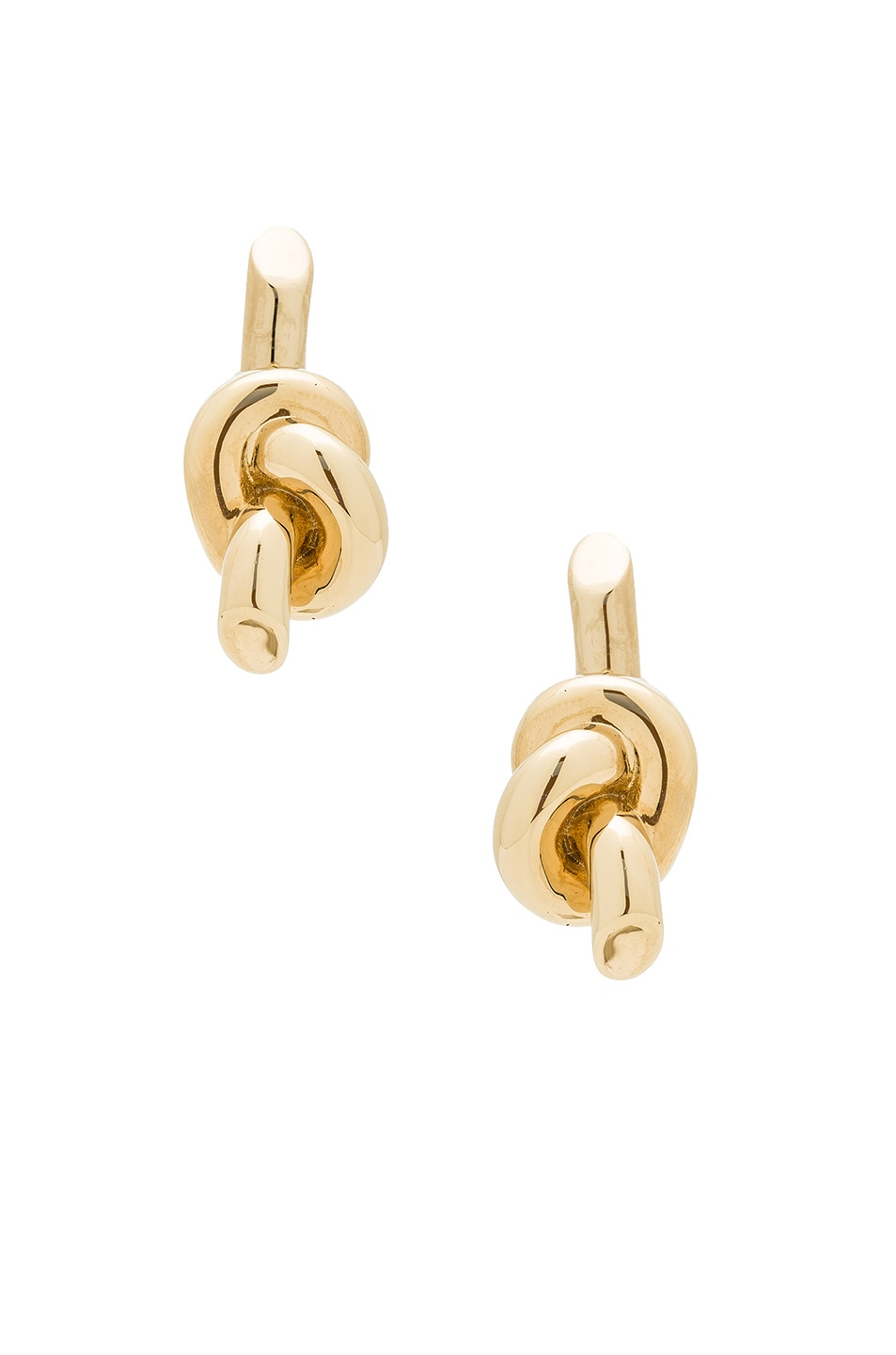 Image 1 of Balenciaga Bow Earrings in Pale Gold