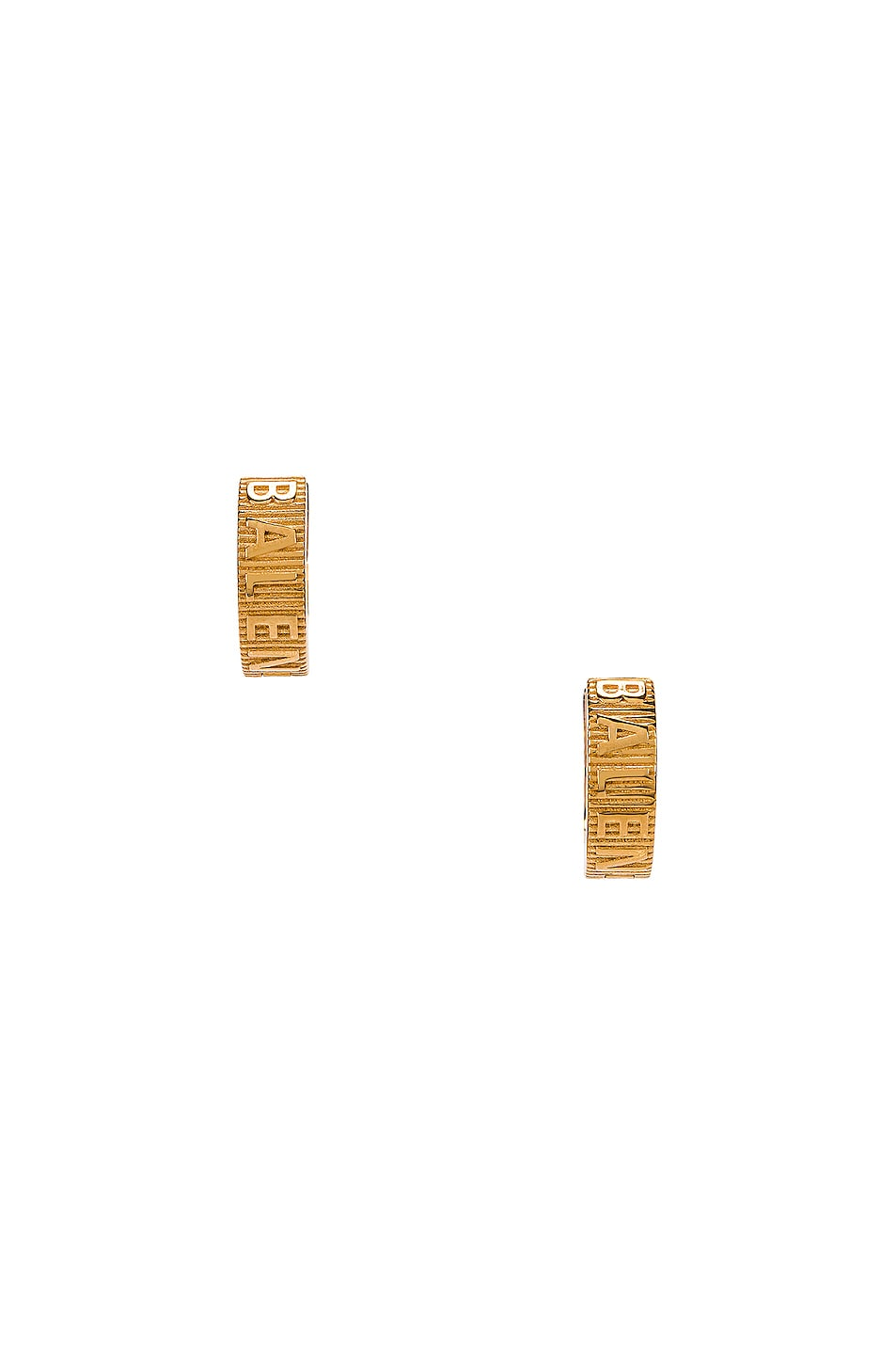 Image 1 of Balenciaga Force Striped Earrings in Shiny Gold
