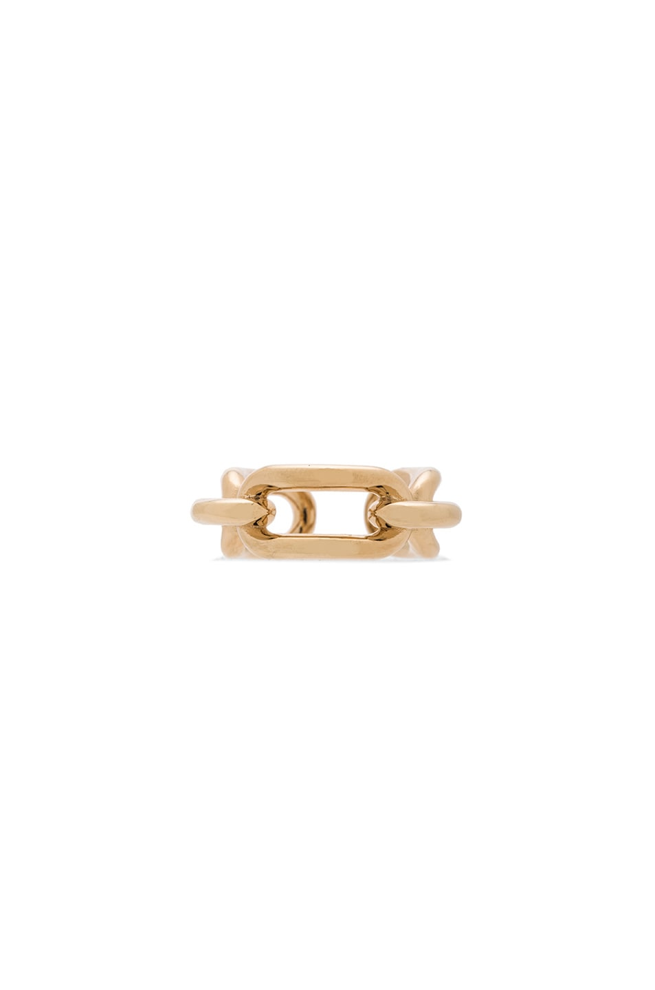 Image 1 of Balenciaga Brass Chain Ring in Pale Gold