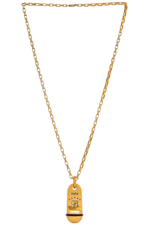 Image 1 of Balenciaga Hotel Necklace in Dark Antique Gold