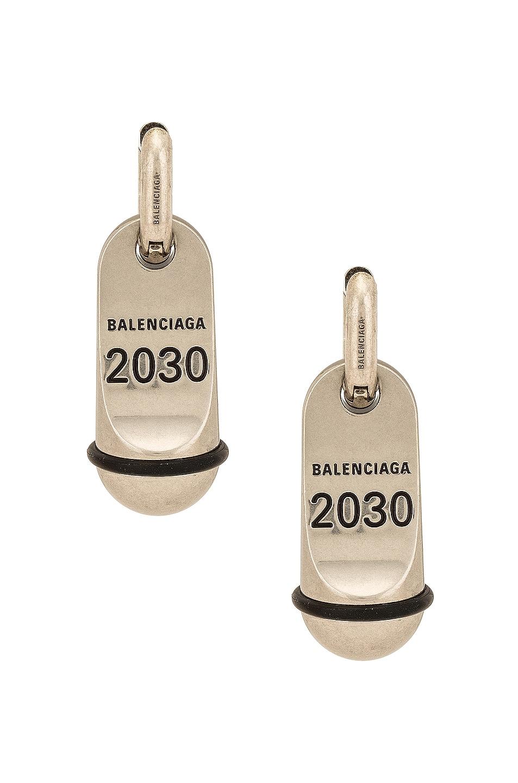 Image 1 of Balenciaga Hotel Earrings in Antique Silver