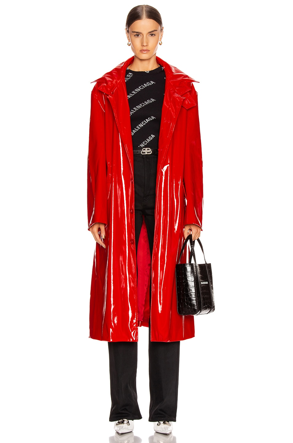 Image 1 of Balenciaga Fitted Trench in Masai Red