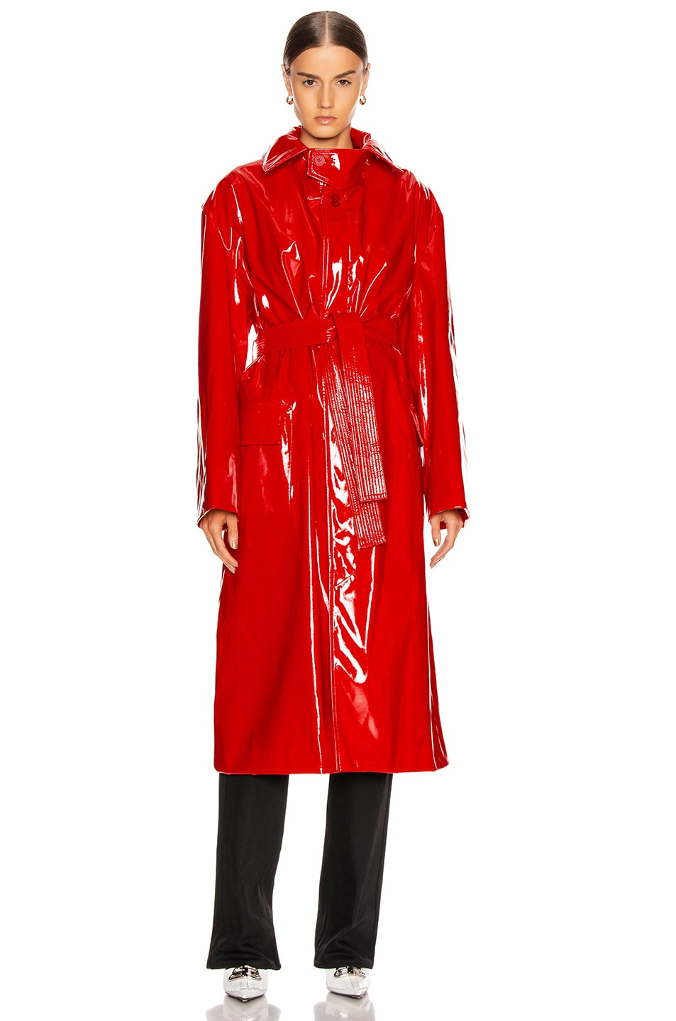 Image 2 of Balenciaga Fitted Trench in Masai Red